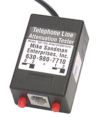 Telephone Line Attenuation Tester - Inserts 1, 2, 3 or 4db of attenuation