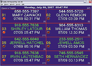 Caller ID Watch Plus setup to see 8 lines on the screen at once