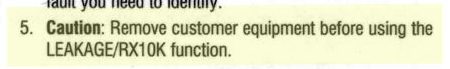 This is right out of the manual for a popular piece of test equipment that the Phone Company uses.