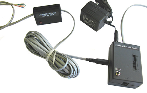 Headset In-Use Relay