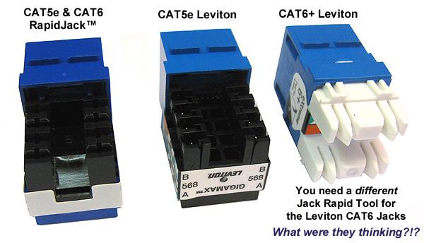 Cat5e Cat6 And Cat3 Usoc Rapidjacks