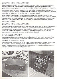 Click to see a bigger readable version... This page has a great picture of an IMTS phone - one of the first mobile phones, sitting on the hump in the Caddy - with the rotary dial!