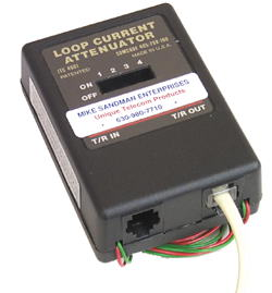 Loop Current Attenuator - Set the Loop Current with the Dip Switches while watching the loop current come down on your meter.