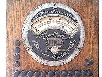 Click for bigger picture of the Weston Voltmeter in the Magneto Test Desk