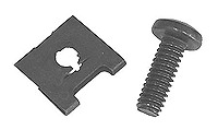 Screws and Tinnerman Clips for Patch Panels