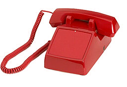 Red 2500 No-Dial Desk Phone