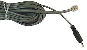 14 Foot Silver Satin RJ-11 to 3.5mm Cord