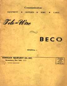 Cover of Beco Catalog Number 17