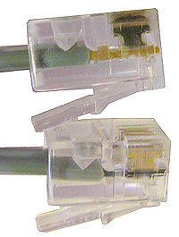 Modular Line Cords are wired so the ends are Reversed