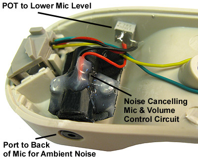 Noise Cancelling Microphone in Handset