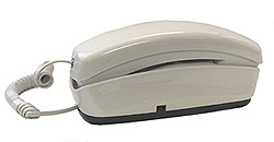 Trimline Style No-Dial Phone - White