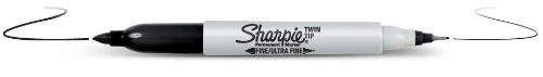 Twin Tip Sharpie - Fine and Extra Fine
