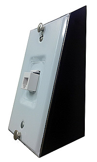 Tilt Bracket for Wall Jack... Makes it easier to use a wall phone, ands see the display on a wall phone