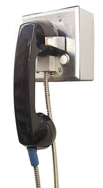 Click for bigger picture of the Handset Door Box with 4' Armored Cord