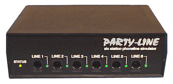 Party-Line 6 Port Telephone Line Simulator